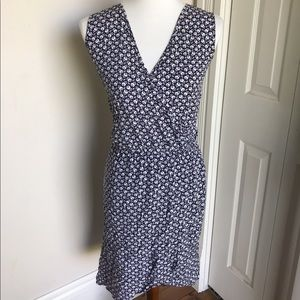 Floral Print Blue & White Vince Camuto Dress